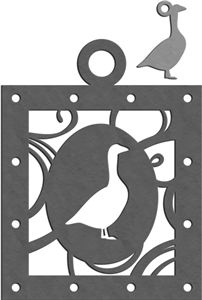 Silhouette Design Store - View Design #15129: 6 geese laying charm & ornament