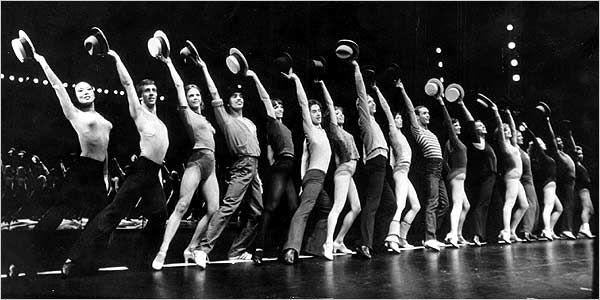 The original Broadway cast of A Chorus Line.