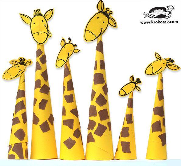 Paper Giraffes – so easy to make