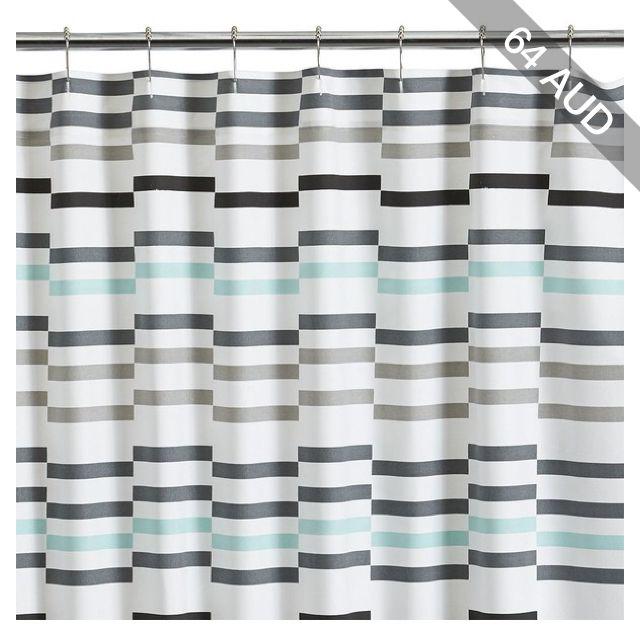 crate u0026 barrel newport seafoam shower curtain