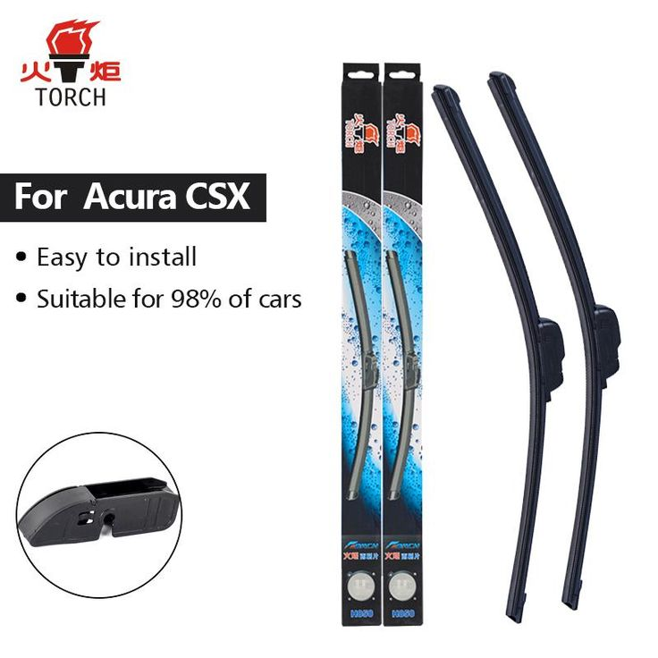 TORCH Wiper Blades For Acura CSX Fit Hook Arms 2008 2009