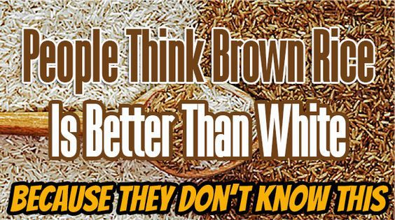 PEOPLE THINK BROWN RICE IS BETTER THAN WHITE BECAUSE THEY DON'T KNOW THIS! via Global Health