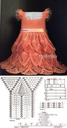 Платье для девочки — работа Ларисы Величко - вязание крючком на kru4ok.ru