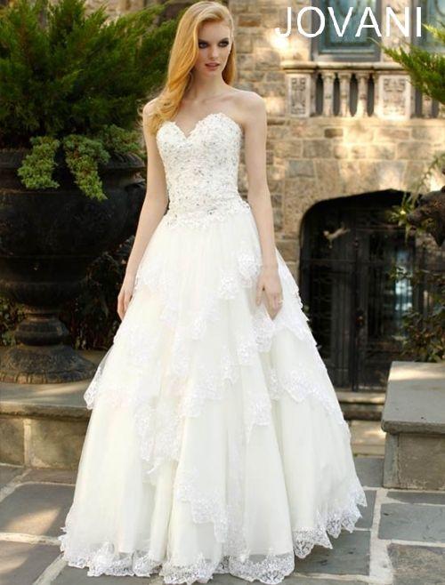 Jovani Wedding Dress www.finditforweddings.com  Designer wedding dresses