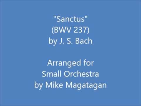 """Sanctus"" from the Mass in C Major (BWV 237) for Small Orchestra 