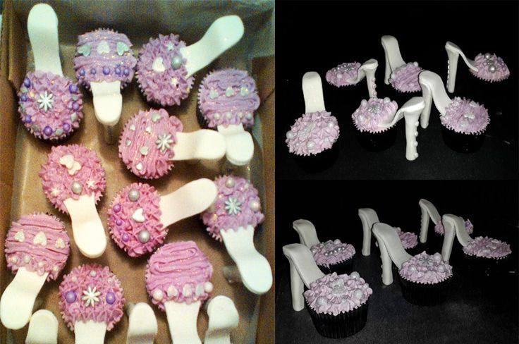 High heel cupcakes (100% edibile)  Bloemfontein cakes and cupcakes  For orders email SweetArtBfn@gmail.com or call Lola @ 0712127786  Join us on Facebook:  https://www.facebook.com/groups/SweetArtCakesBloemfontein/