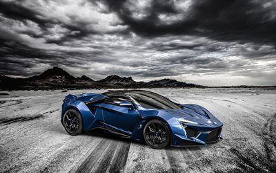 Scarica sfondi blu supercar, sport coupe, fenyr supersport, 2016