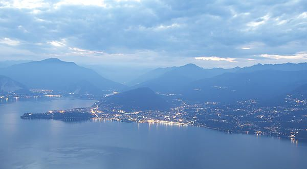 An atmospheric photograph of Italy's Lake Maggiore by me #Photo on Pinterest