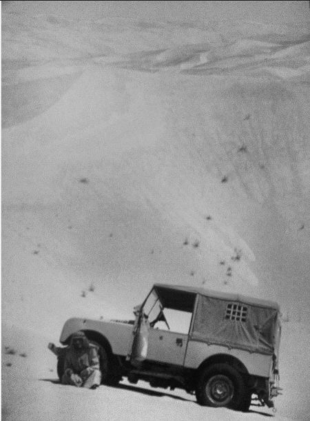 "Land Rover Series One 80"" in the desert"