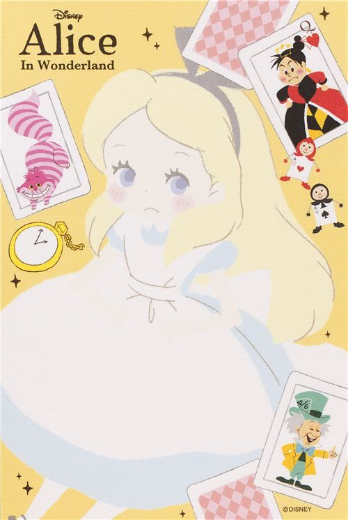Alice in Wonderland Memo Pad with cards from Japan 6