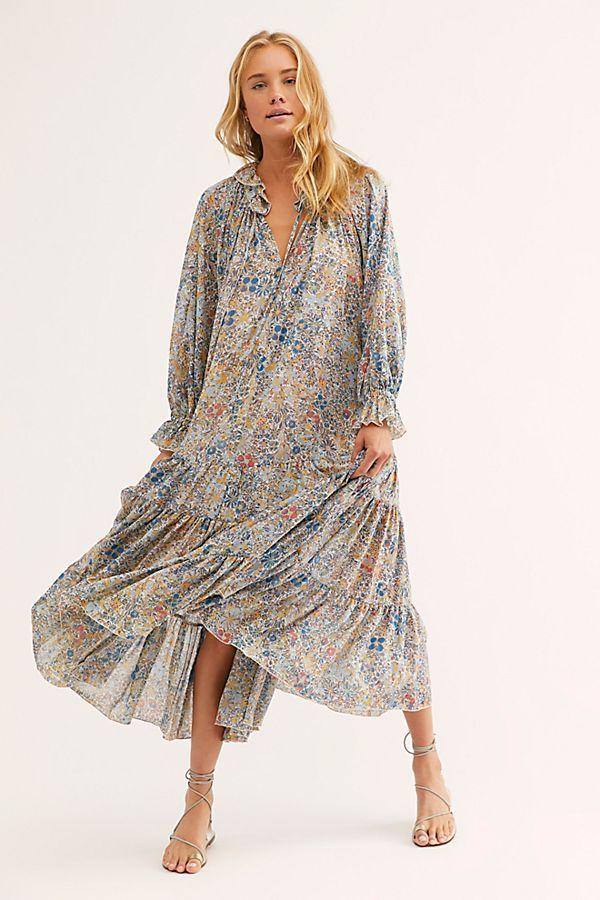 Feeling Groovy Maxi Dress Flowy Floral Maxi Dress Popular
