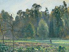 Campo de coles, Pontoise, Camille Pissarro