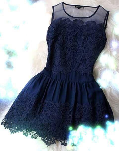 Vestido azul marino corto