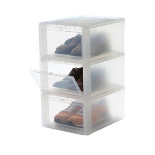 Iris Set von 3 Schuhboxen, Schuh aufbewahrungsboxen, Schuhschachtel, Schuhaufbewahrung, Schuhkasten, 137007