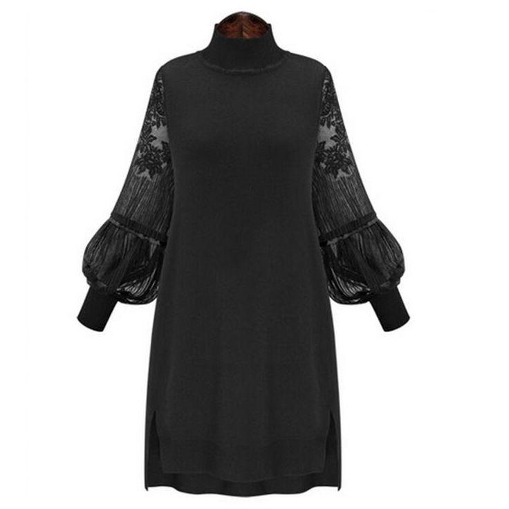 Ретро кружева платье дамы сексуальные красный ну вечеринку платья весна зима женщина одежда старинные фонарь рукав Tunique роковой офис купить на AliExpress