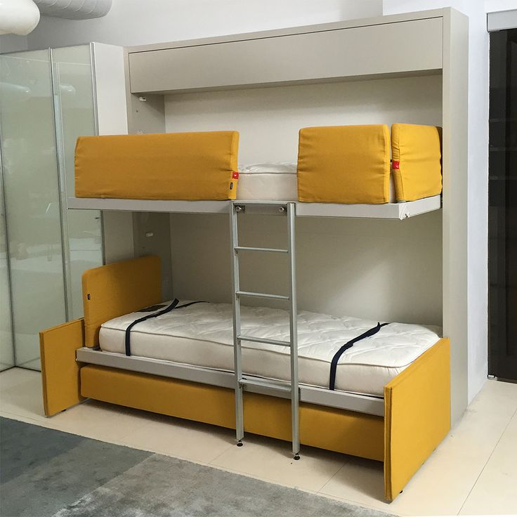 Murphy Bed Bunk Bed System Made In Italy By Clei · Space Saving FurnitureWall  ...