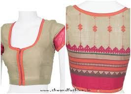 Image result for blouse neck designs with patch work