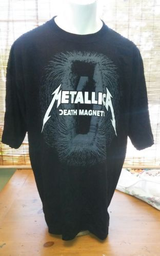 METALLICA DEATH MAGNETIC COFFIN BLACK T SHIRT OFFICIAL ADULT DIRT NAP SALE