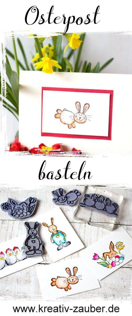 Osterkarten basteln - Osterstempel - Motivstempel Ostern - Osterhase