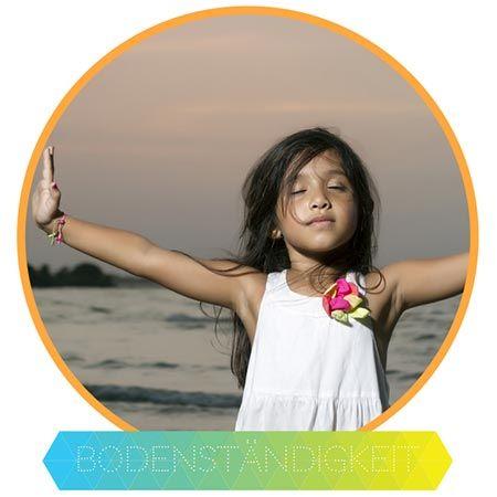 Yoga und Bodenständigkeit - Das Wurzel-Chakra (Muladhara) bezieht sich auf unsere Herkunft, unseren Ursprung und gibt uns ein Gefühl der physischen Sicherheit. Wenn es gut funktioniert und die Energie fließt, hilft es uns geerdet und mit der Erde verbunden zu fühlen. Dieses Chakra liegt ein wenig über und vor dem Steißbein.