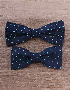 Cute Baby Gifts: Father and Son Blue & Mint Bow Tie Set!