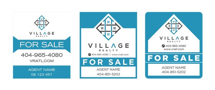 Create 3 variations of a For Sale yard sign for a tech savvy real estate firm by 2eyes