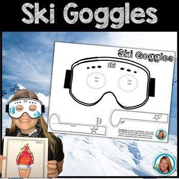Winter Olympics 2018 Activities SKI GOGGLES (glasses) | TpT