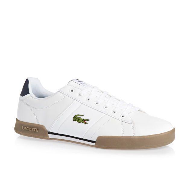 Men's Lacoste Deston Shoes - White/Tan
