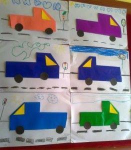origami truck craft
