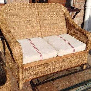 Classic 2-seater, handmade of cane
