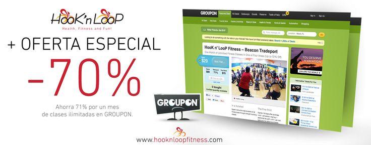 OFERTA ESPECIAL DE LA TEMPORADA.¡Inicia el Otoño con buen pie! Ahorra 71% por un mes de clases ilimitadas en GROUPON. Obtén tu cupón aquí:http://www.groupon.com/deals/hook-n-loop-fitness  #hooknloop #gymdoral #gym #doral #fitness #miami #workout #gimnasio #miamifitness #dolphinmall #getfitinmiami