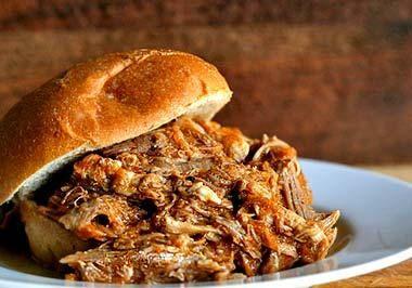 Crock Pot Barbecued Tri Tip Sandwich