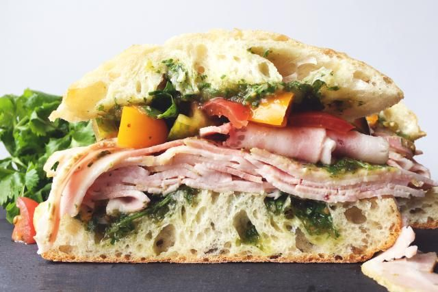 15 Italian Sandwich Recipes That Will Make You Scream Mama Mia!: Porchetta Sandwich with Salsa Verde