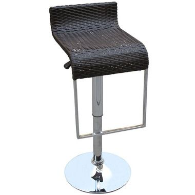"LEM 31"""" Heights Adjustable Wicker Bar Stool in Expresso"
