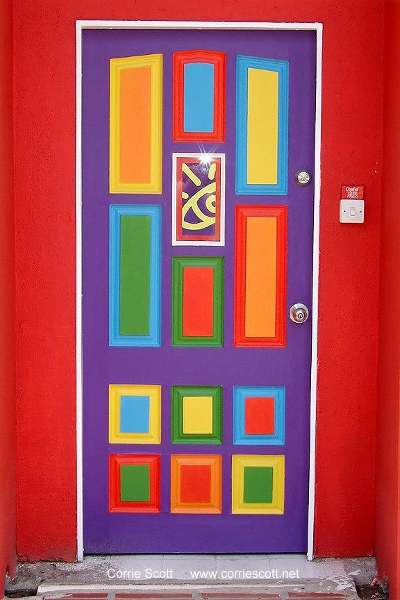 bright colorful door