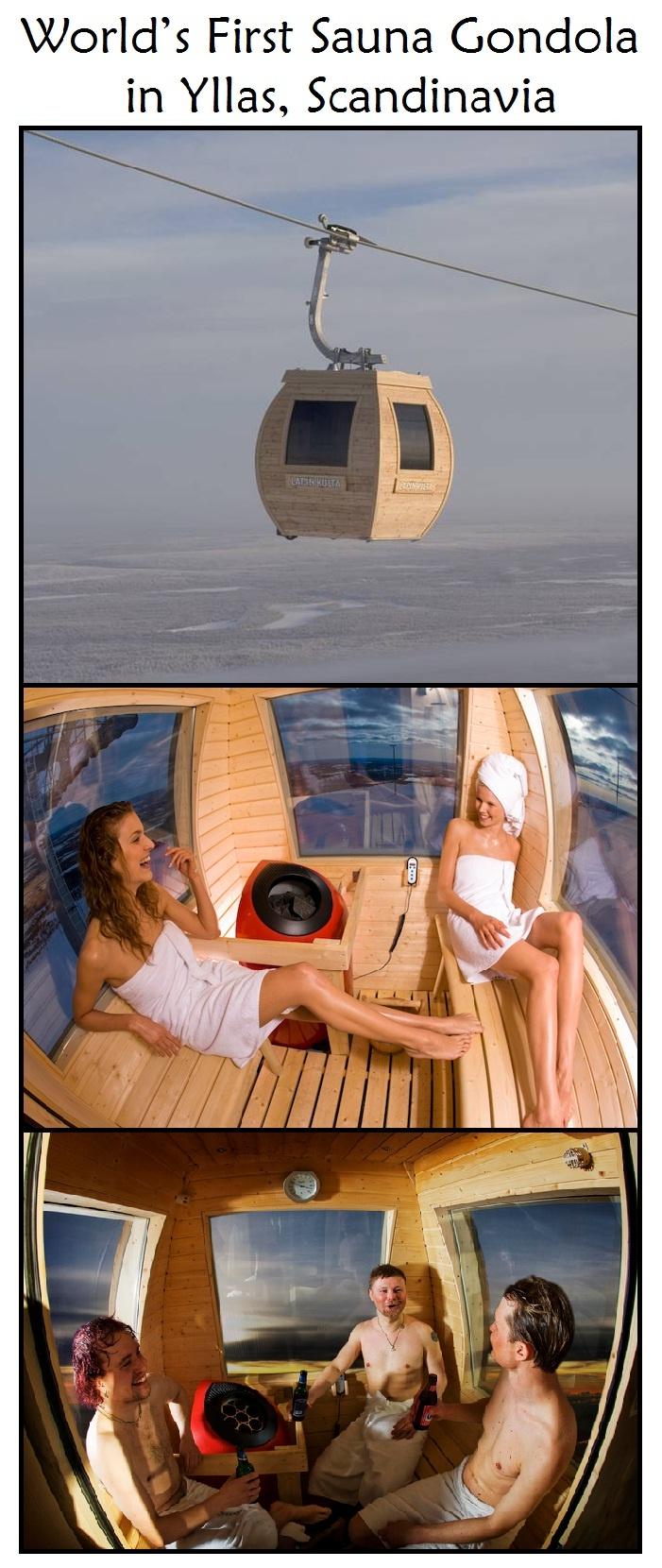 Sauna Gondola in Ylläs, Finnish Lapland