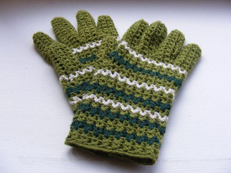 Вязаные перчатки крючком. часть 2 Knitted gloves hook