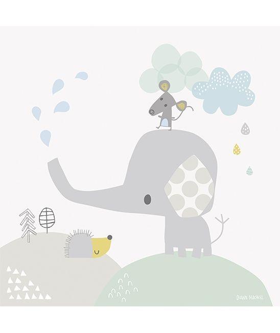 Tableau enfant éléphant et souris