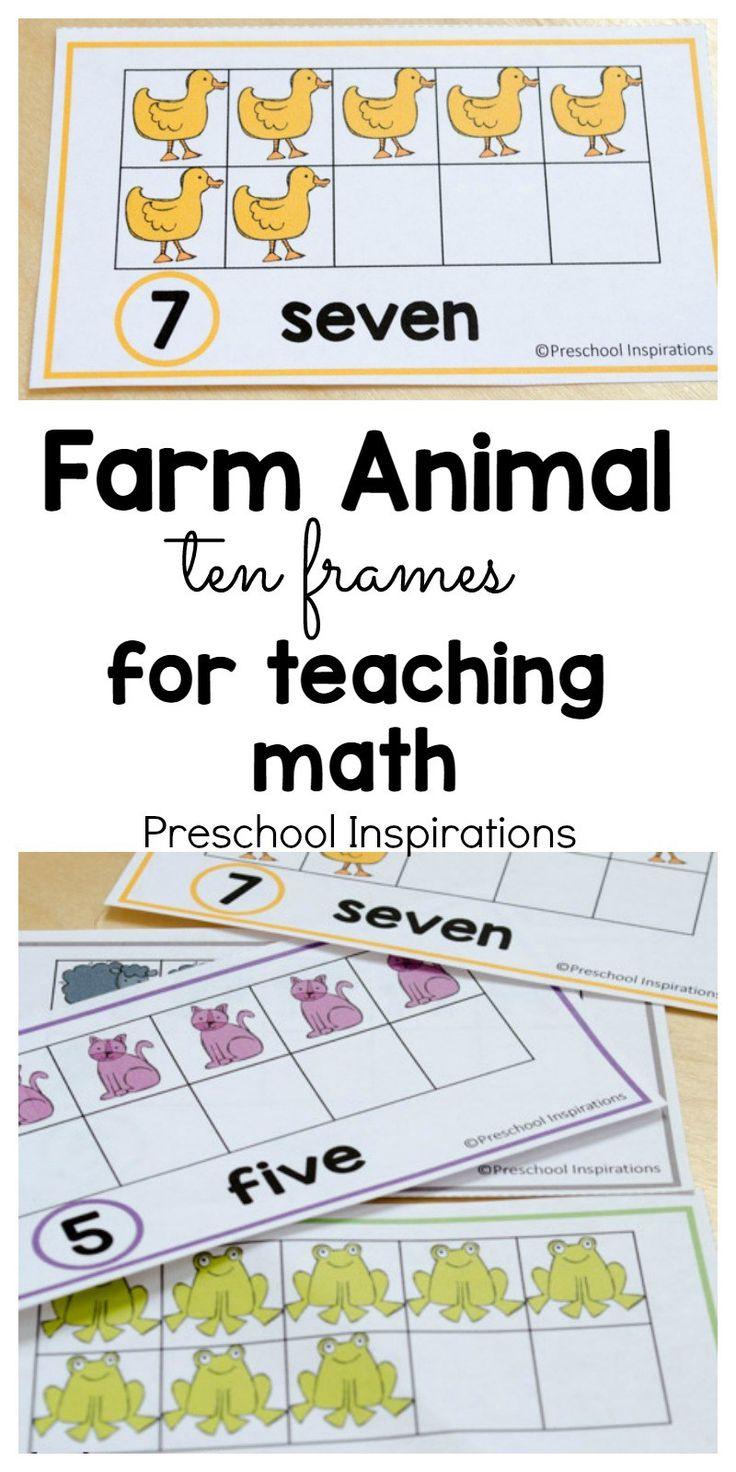 These farm themed free math printables are perfect for helping children count and learn about numbers. Use these in a math center or a small group, or you can even hang them on the wall. Use these farm themed ten frame cards to make math fun for young chi