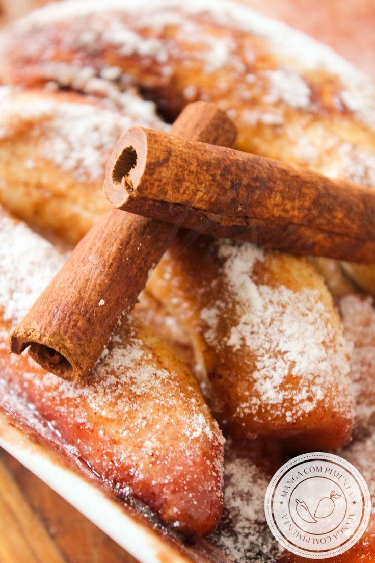 Receita de Banana Assada com Açúcar e Canela