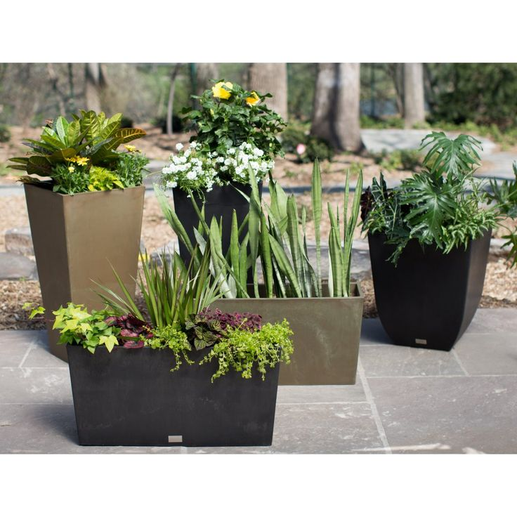 Veradek Midori Trough Planter - Sleek and modern, the Veradek Midori Trough Planter is the perfect piece for creating privacy or filling an empty space. This planter makes the perfec...