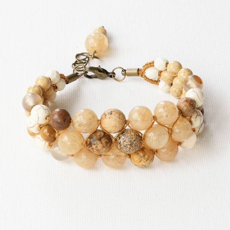 #CRMD #rękodzieło #biżuteria #bransoletka #handmade #jewelry #bracelet #macramejewelry #bohobracelet #gemstones #gemstonejewelry #earthtones #sandy