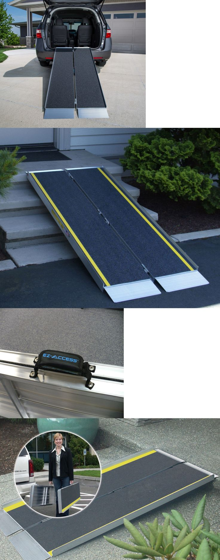 Access Ramps: Threshold Access Ramp Folding Suitcase Style Wheelchair Mobility Loading Ramp BUY IT NOW ONLY: $146.0