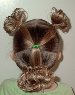 Shaunell's Hair: Little Girl's Hairstyles - How to do a Minnie Mouse Hair Do 7-10 min