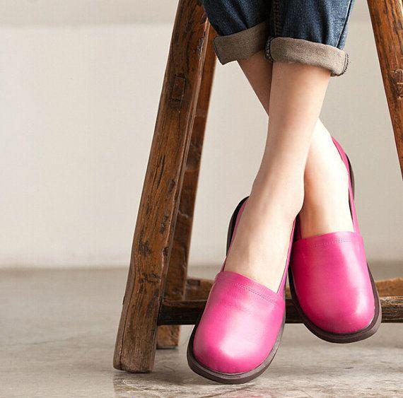 VENTE ! À la main Chaussures femmes, chaussures occasionnelles, chaussures plates pour femmes, chaussures souples confortable, personnel plus chaussures :