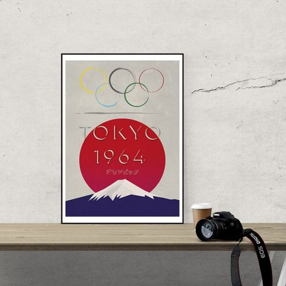 Affiche vintage des jeux olympiques de Tokyo en 1964 Dimensions : 42x59 cm.