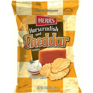 Herr's Horseradish and Cheddar Potato Chips