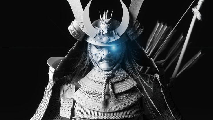 Minamoto no Yoshitsune - Clay renders, Thuan Nguyen Minh Duong on ArtStation at https://www.artstation.com/artwork/rYJ2L