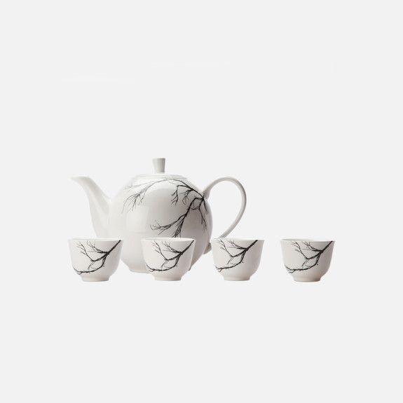 Love Milo - Teapot & 4 Cups