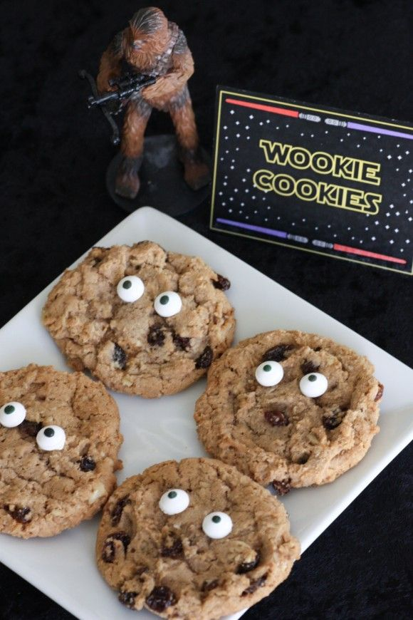Wookie Cookies for a Star Wars party also for Blue and Gold themed Cubscout Activity | CatchMyParty.com